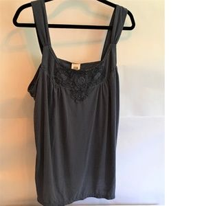 Faded Glory Lace Trim Plus Size Tank Top
